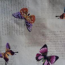 Material textil Dibujo Papillon, color 101 Beig